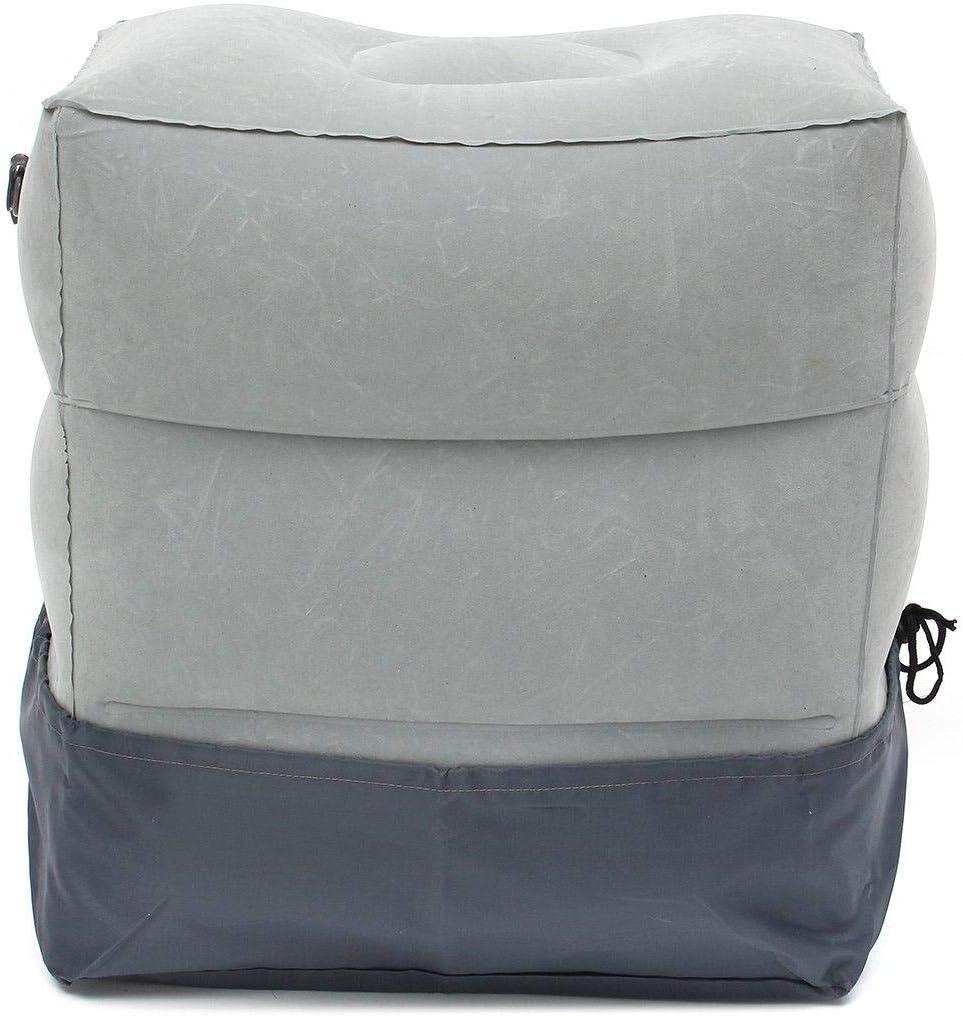وسادة مسند قدم للسفر مكونة من 3 طبقات للاستخدام في الطائرة والقطار والسيارة وسادة مسند قدم مع حقيبة للتخزين وكيس قماشي