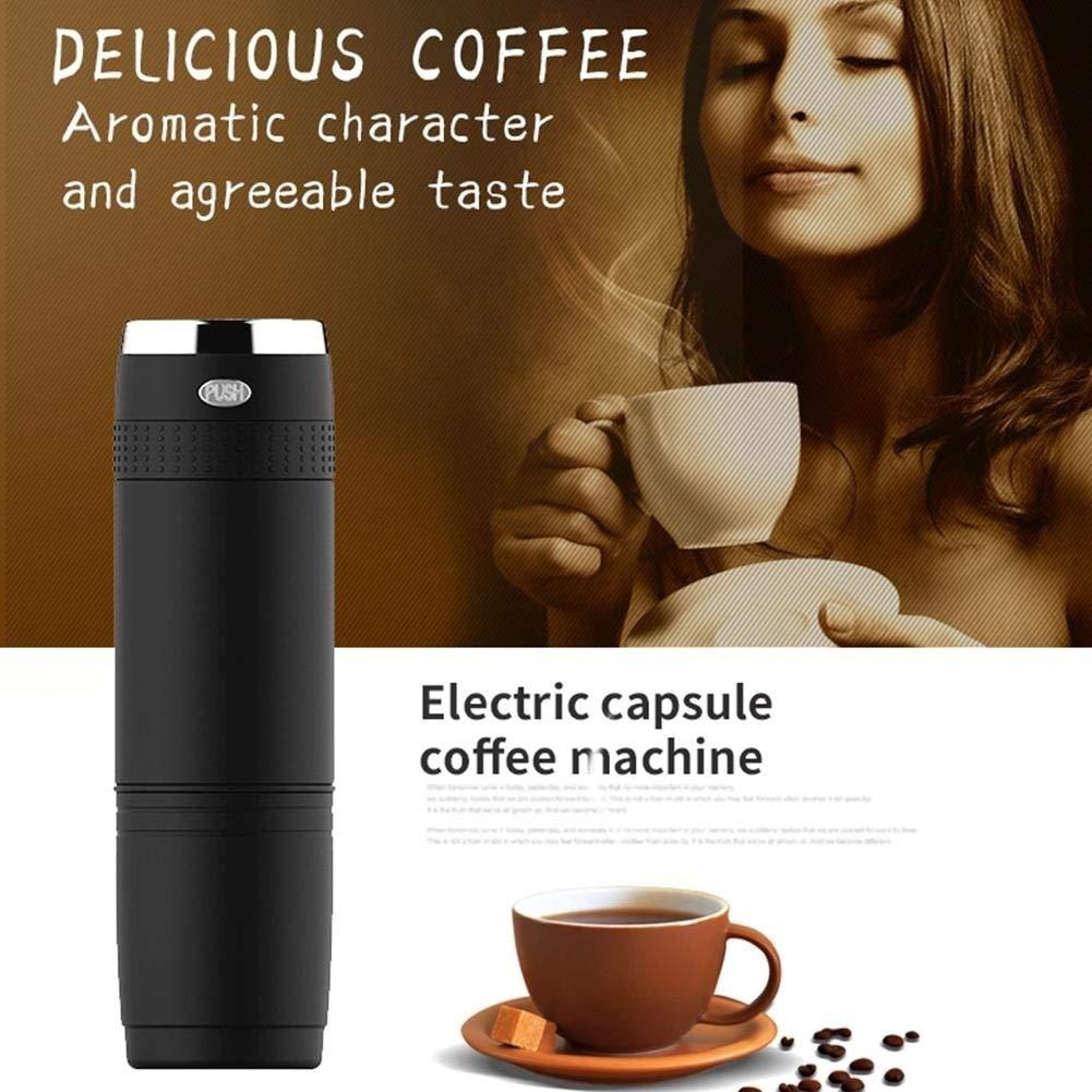 Hand grinder,longdelaY6 150ml Portable Electric Coffee Maker Auto Machine Espresso Blender Outdoor Cup - Black