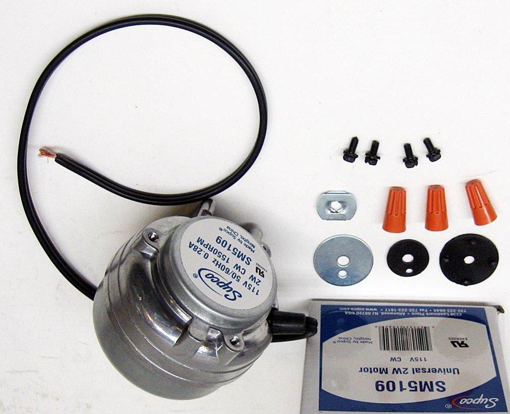 Refrigerators & Freezers Parts WP5109 2 Watt Refrigerator Condensor Fan Motor for Whirlpool Kenmore 833697
