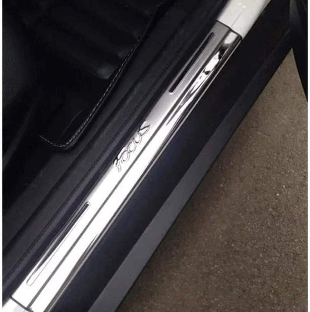 ASDDD 4Pcs Auto /Äu/ßere Schutz Einstiegsleisten T/ürschweller Edelstahl Rutschfestes Anti-Kratz Au/ßent/ürschwellen Sticker Zubeh/ör f/ür Ford Focus 3 2 MK4 2012-2020 Protector Door Sill Kick Plates