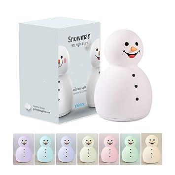 Amazon.com: [NUEVO] Snowman LED luz nocturna para bebé ...