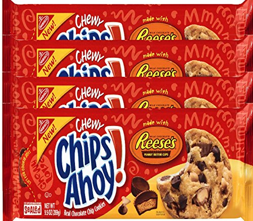 Nabisco Chewy Chips Ahoy Cookies Reese's Peanut Butter Cup 9.5 oz (4) ()