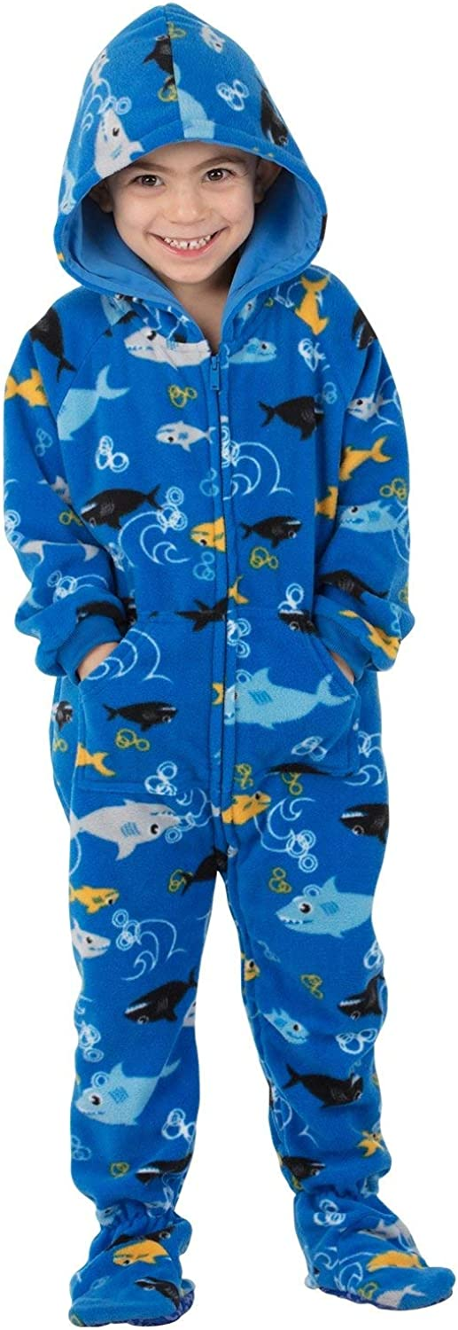 Footed Pajamas - Toddler Fleece Hoodie Onesies   One-Piece Pajama Jumpsuits for Boys and Girls Pjs   Unisex