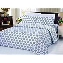 Bamboo Living Eco Friendly Egyptian Comfort Bedding 6 Piece Sheet Set (w/4 Pillowcases) (Circles, Double/Full)