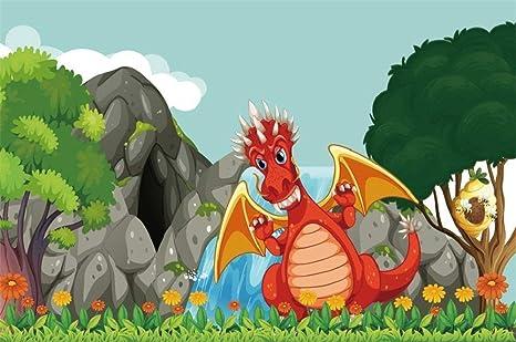 GzHQ 5x3ft Período Jurásico Dibujos Animados Fotografía ...