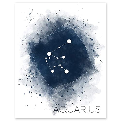 Constellation Aquarius Star Sign Starsign SINGLE CANVAS WALL ART Picture Print