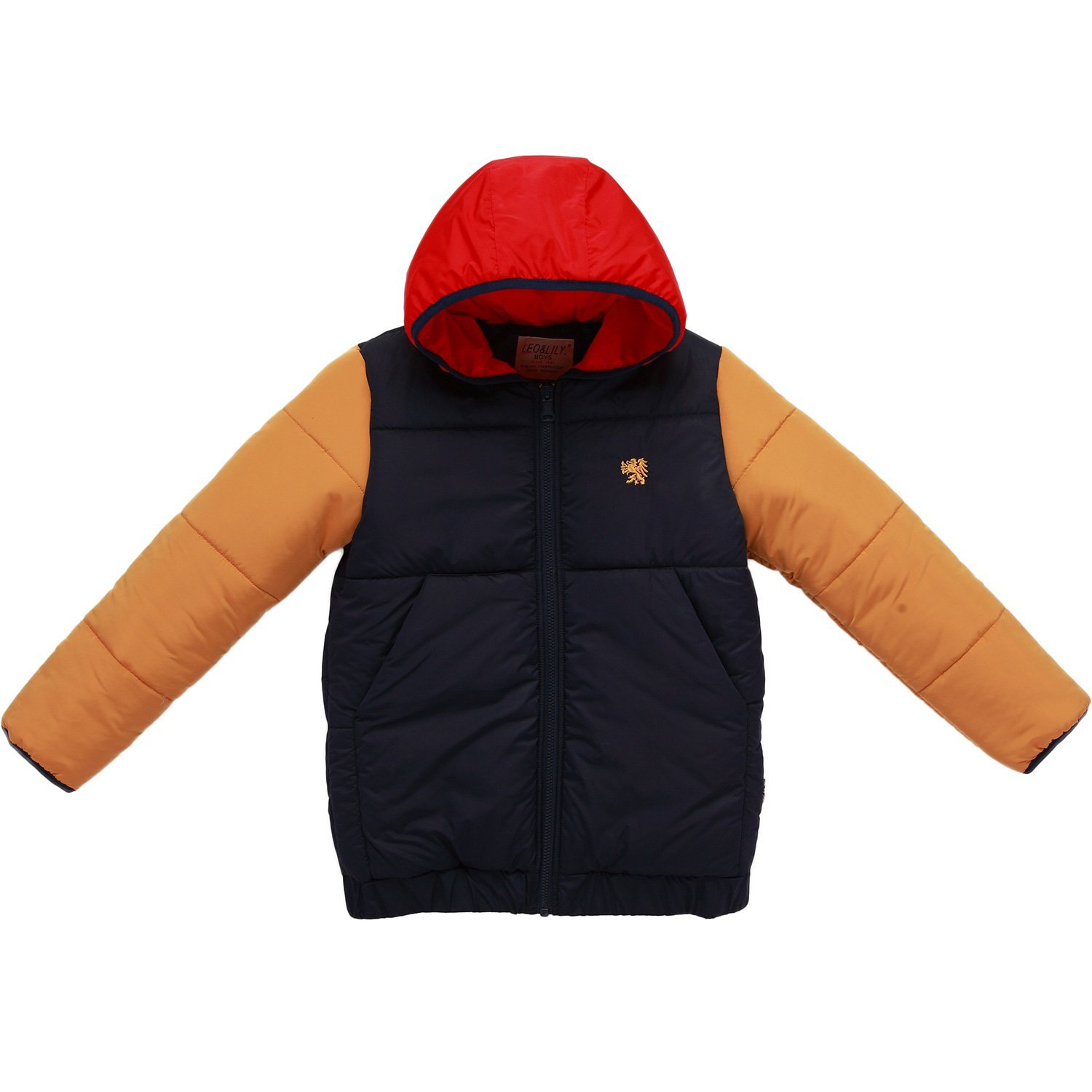 5fdeb54d5627 Amazon.com  Leo Lily Boys Winter Padded Puffer Contrast Jacket Outwear Coats   Clothing