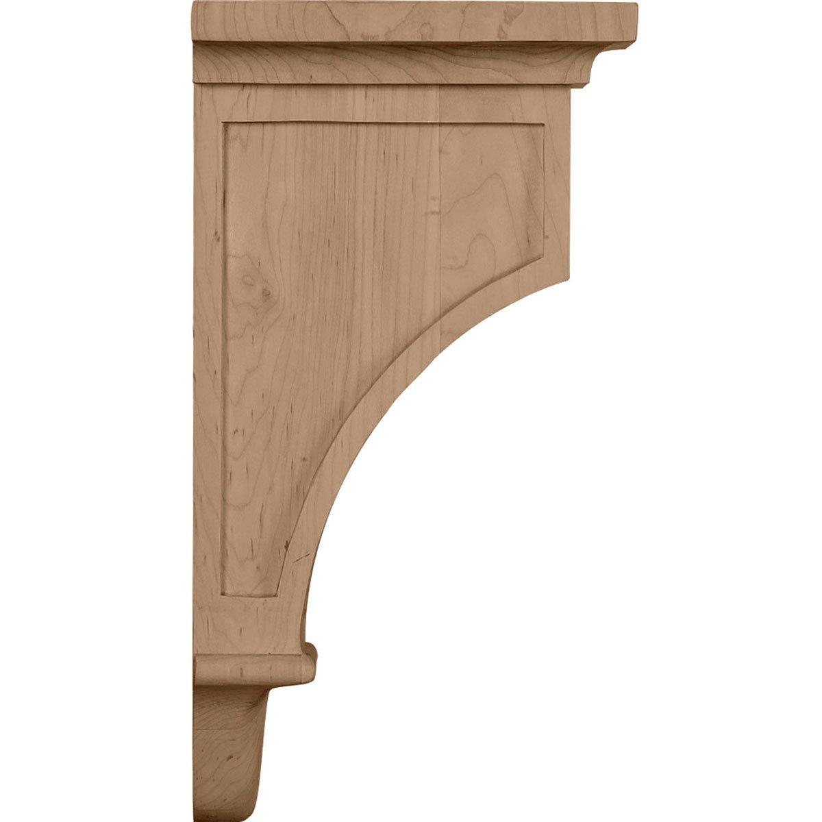 Rubberwood Ekena Millwork COR06X04X12ARRW 6-Inch W x 4 3//4-Inch D x 12-Inch H Arts and Crafts Corbel