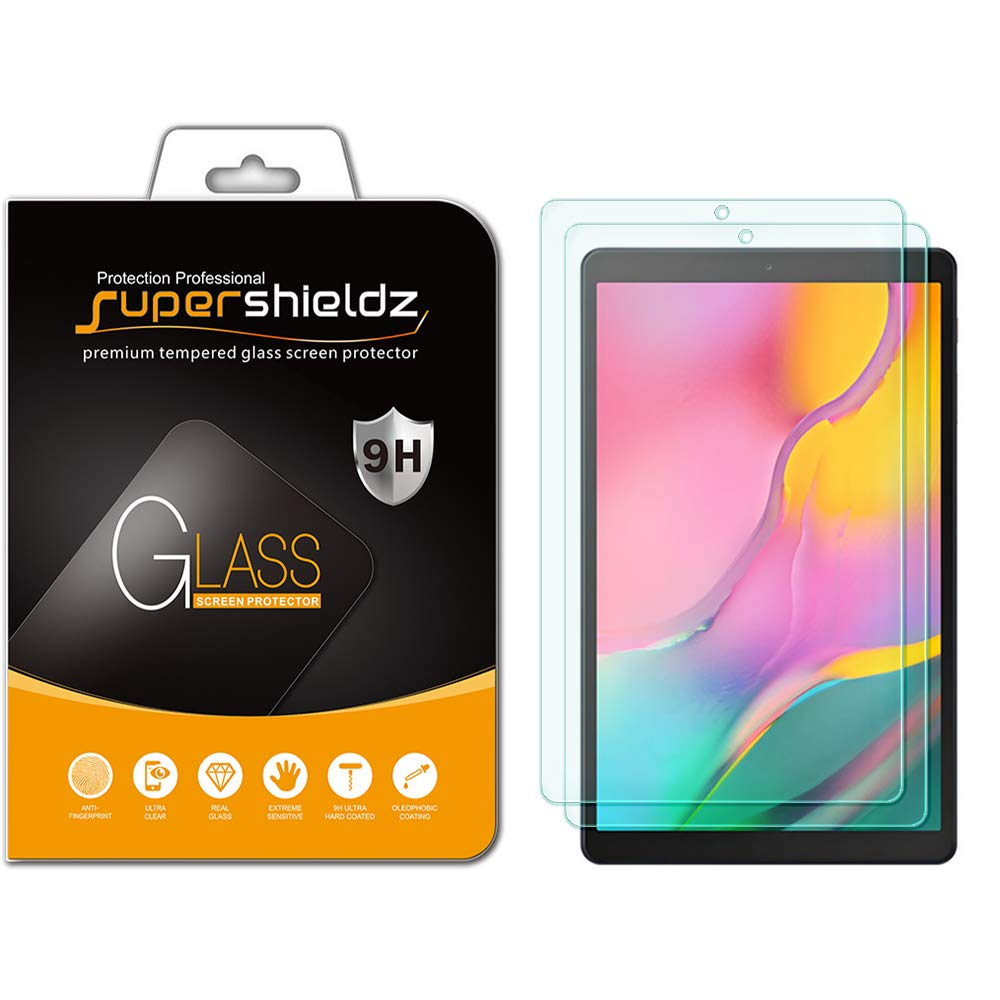(2 Pack) Supershieldz for Samsung Galaxy Tab A 10.1 (2019) (SM-T510 Model) Screen Protector, (Tempered Glass) Anti Scratch, Bubble Free 61oTHOCDe-L