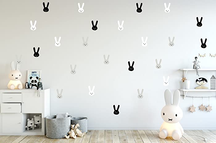 Amazon Com Bunny Wall Stickers Baby Wall Decal Removable