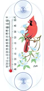 product image for Aspects 193 Cardinal/Dogwood Window Thermometer, 8-Inch