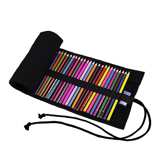 abaría - Bolsa de lápiz de Colores, pequeño Estuche Enrollable 36 ...