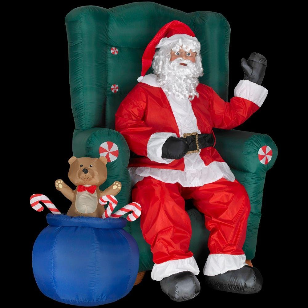 Santa on a couch outdoor inflatables christmas wikii for Animated santa claus decoration