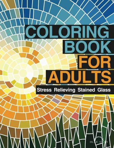 Coloring Book for Adults: Stress Relieving Stained Glass