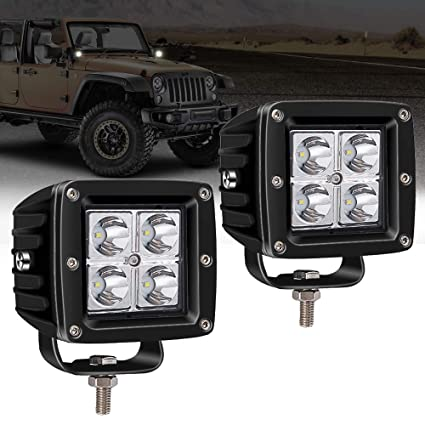 "LED Light Bar TURBO SII 2Pcs 16W 3X3"" inch Spot Cube Pod LED Work Light"