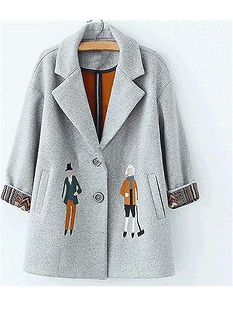 Amazon.com: Chaquetas de lana para mujer, de moda europea ...