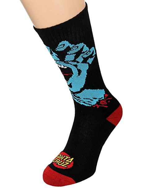 Calcetines Santa Cruz - Screaming Hand negro talla: OSFA ...