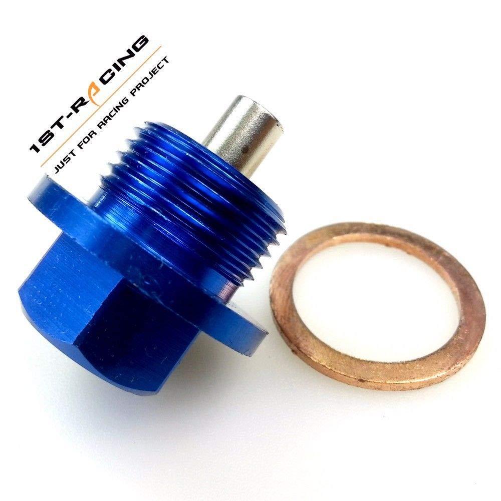 BLUE M20 X 1.5  for SUBARU MAGNETIC OIL PAN DRAIN PLUG BOLT KIT CRUSH WASHER
