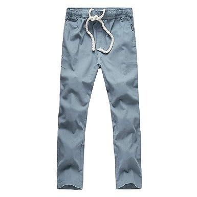 cinnamou Pantalones Chinos Hombre Casual: Amazon.es: Ropa y ...