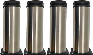 XUYIANGEL Furniture Cabinet Metal Legs Stainless Steel Adjustable Kitchen Feet Round 2