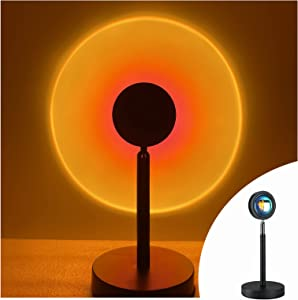 Ralch Wysom Sunset Lamp,Sunset Projection Led Lamp,Projector Sunset Red Light 180 Degree Rotation USB Charging,Romantic Projector for Home Party Living Room Bedroom Decor (Sunset Red)
