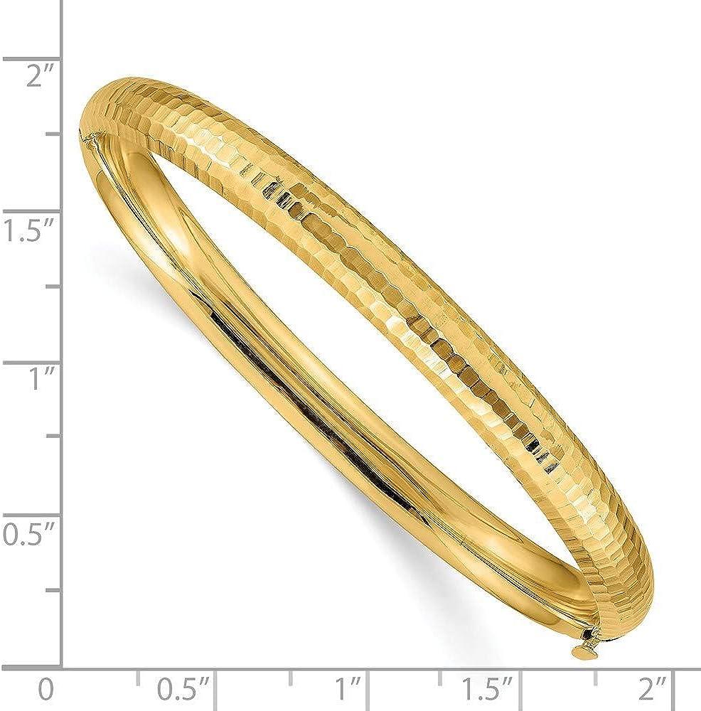 14K Yellow Gold Plated 3 /& 16 Hammered Childrens Bangle Bracelet