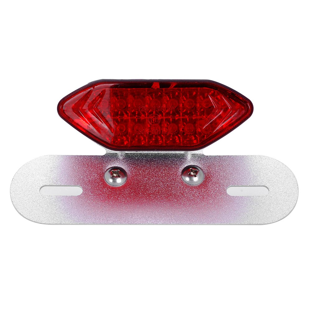 Astra Depot M08 030 5 12 Volt Cafe Racer Led Brake Light Tail Wiring On Diagram Ducati Red Lens With Silver Tone Bracket Automotive