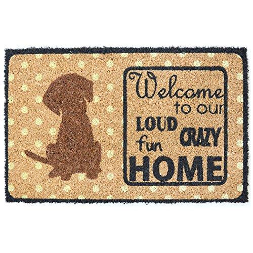 Safety Care Natural Coir Welcome Door Mat – 29.5 x 17.5...