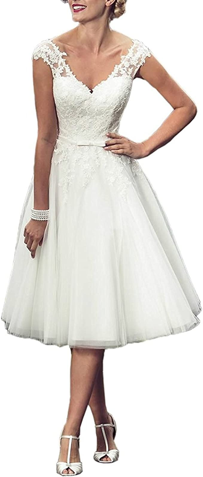 Lorderqueen Princess Lace Appliques Wedding Dress Short Bridal Gowns At Amazon Women S Clothing Store,Best Online Wedding Dress Sites Uk