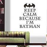 Creative Demiawaking Batman, impermeabile, adesivo da parete in PVC, rimovibile Home Decor