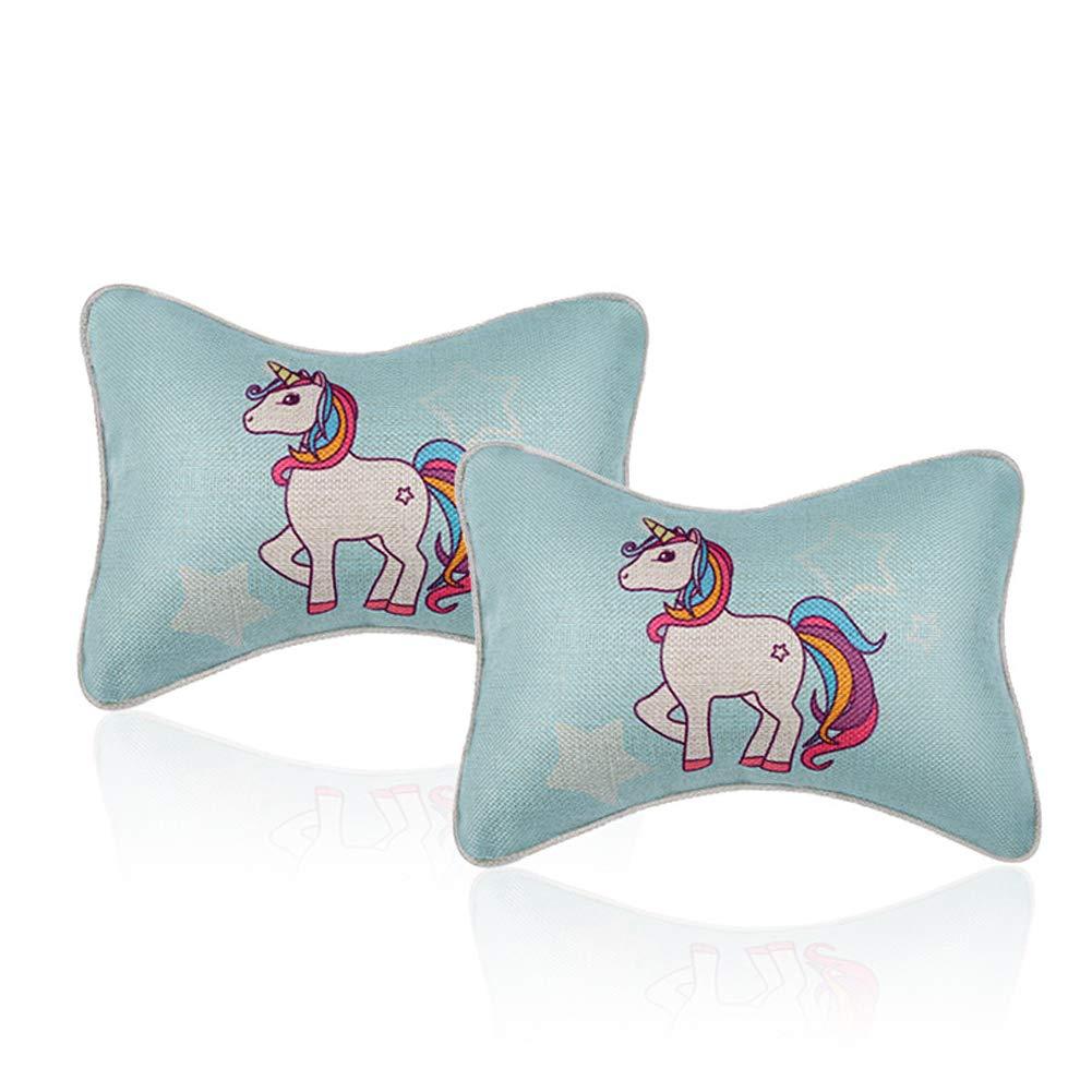 Little Horse Car Neck Pillows Car Headrest Pillows 2PCS