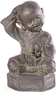Alfresco Home Dreaming Buddha Garden Statue