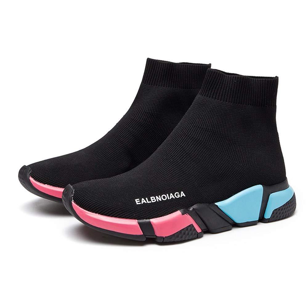 XINGMU Tricot Élastique Chaussures Occasionnels Chaussures Femmes De De Femmes Grande Classe Le Style des Pieds. 37|Couleur court dad7de