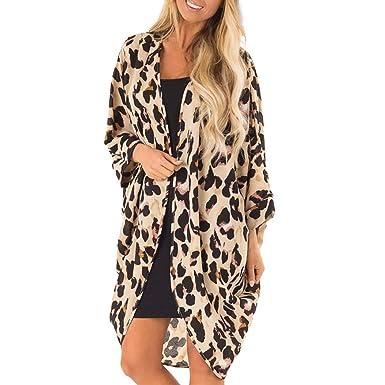 DEELIN Kimono Mujer Verano Moda Leopardo ImpresióN Abrigo ...