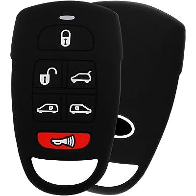 KeyGuardz Keyless Entry Remote Car Key Fob Outer Shell Cover Soft Rubber Case for Hyundai Entourage Kia Sedona Mini Van: Automotive