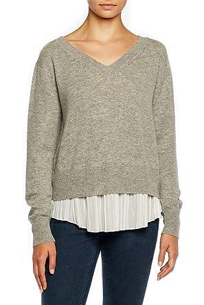 f98e2cdb226 Brochu Walker - Layered Pullover - Arctic Grey White at Amazon Women s  Clothing store