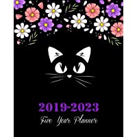 2019-2023 Five Year Planner: Pretty Cat Cover, 8 X 10 Five Year 2019-2023 Calendar Planner, Monthly Calendar Schedule Organizer (60 Months Calendar Planner) with Holidays and Inspirational Quotes