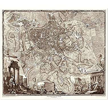 1748 Nolli Map of Rome (45  x 52.6  Archival Paper)
