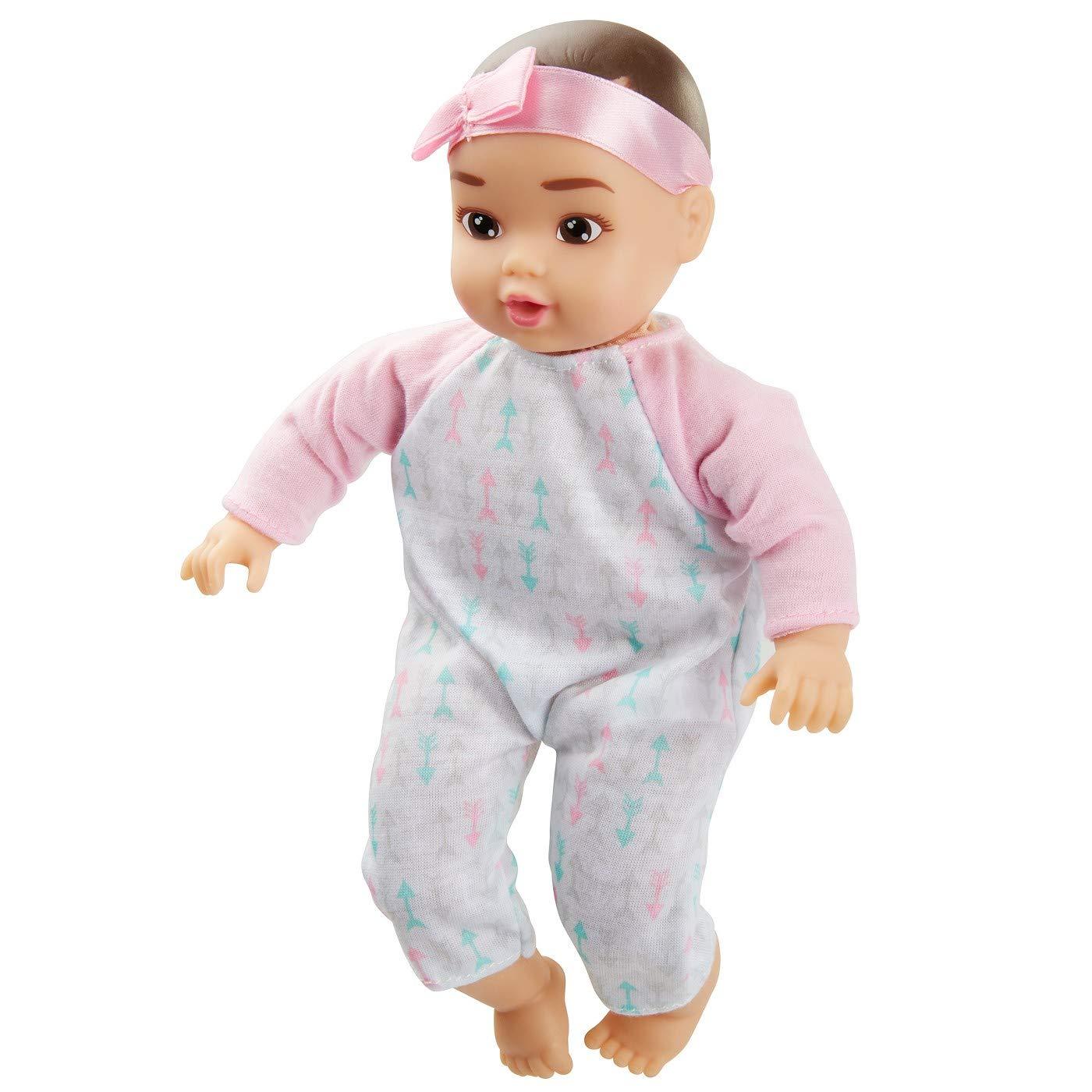 8 Baby Girl Doll Perfectly Cute My Lil Baby Dark Brown Hair