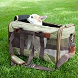 Sherpa Original Deluxe Olive and Tan Pet Carrier Airline Approved