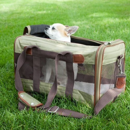Sherpa Original Deluxe Olive and Tan Pet Carrier Airline Approved, My Pet Supplies