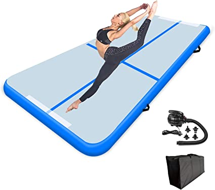 9.84ft Tumble Track air mat for Gymnastics Training//Home Use//Cheerleading//Yoga//Water with Electric Pump FBSPORT 4 inches Thickness airtrack