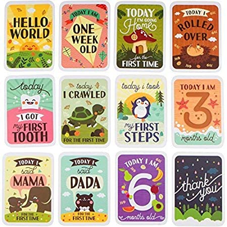 Baby Milestone Cards & Keepsake Box Gift Set 3in1 61oTR3z2euL