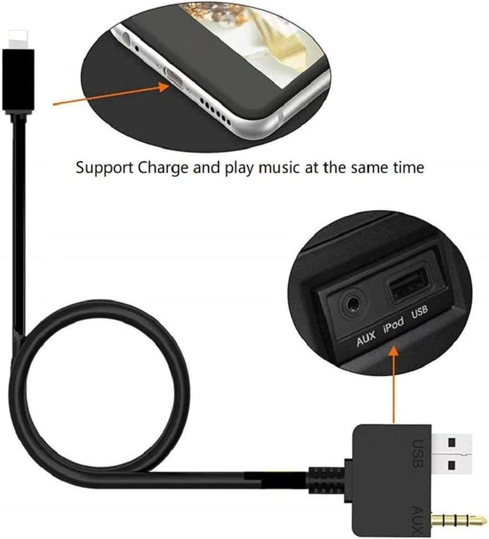 Car Ami Music Interface Aux Cable Power Adapter For Ipx Elektronik