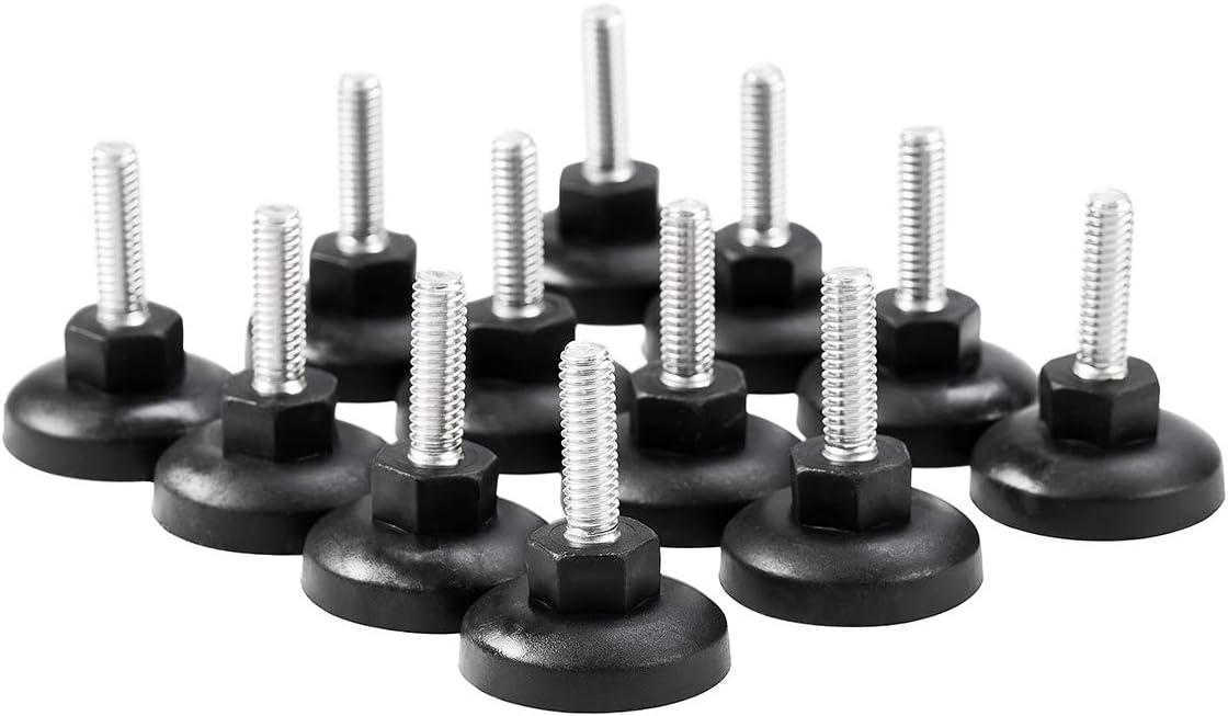 HanKun Height Adjustable 304 Stainless Steel Heavy Duty Furniture Legs Leveler Heavy Duty Leveling Set of 12 (12)