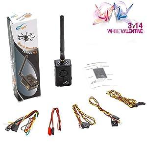 Flysight Black Mamba TX5820 V2 FPV VTX 5.8GHz Video Transmitter (6V-28V) 40CH 2000mW FPV Transmitter for Long-Distance Transmission 8km to 9km (TX5820 V2-RPSMA)