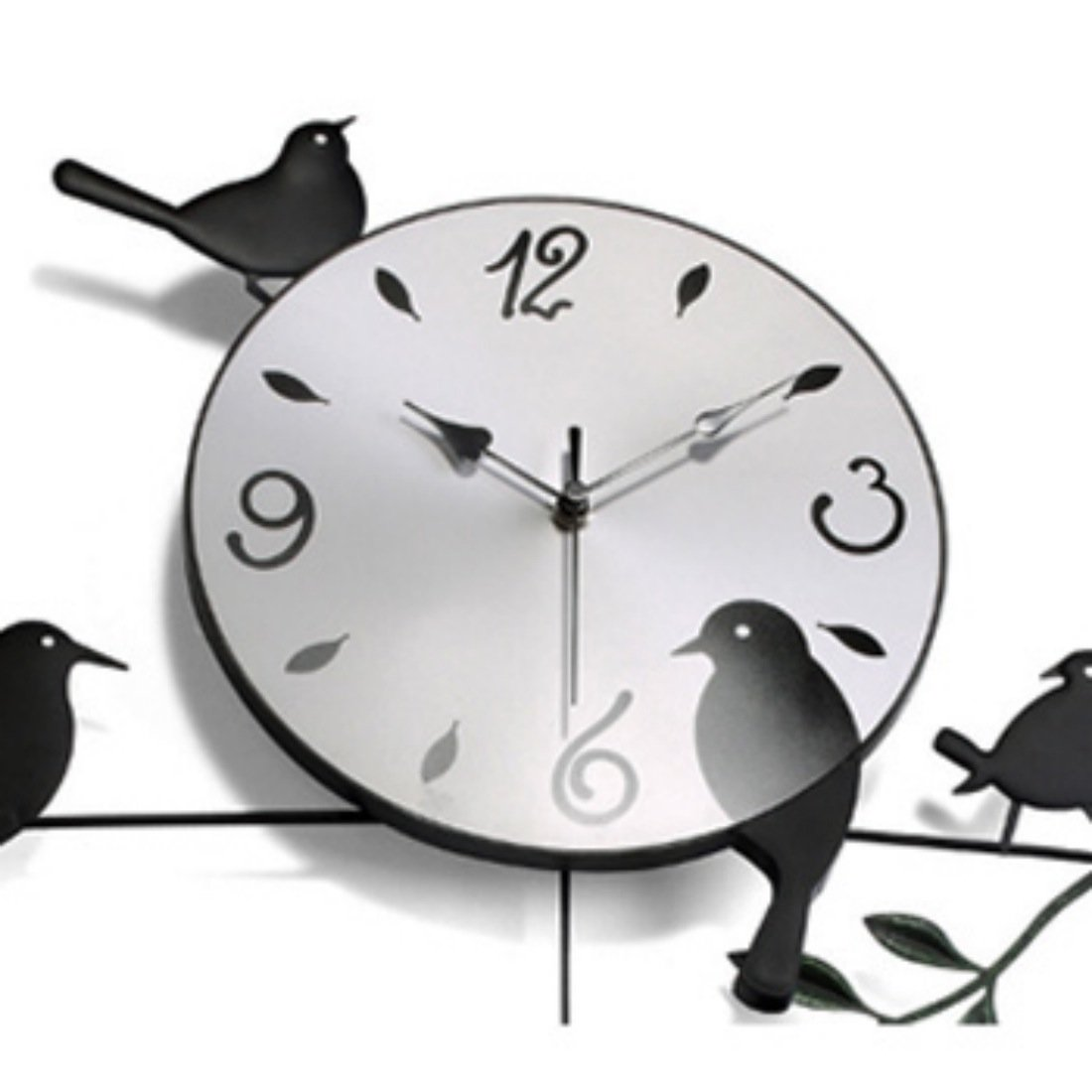 kilofly Metal Bird Pendulum Wall Clock