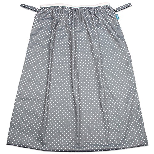 Teamoy Reusable Pail Liner for Cloth Diaper, Kitchen, Laundry Garbage Cans; Washable Diapers Wet Bag, Gray Dots