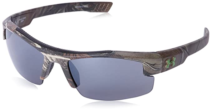 16060abae Under Armour Nitro L Youth Large 8600048-878701 Rectangular Sunglasses,  Realtree, 59 mm