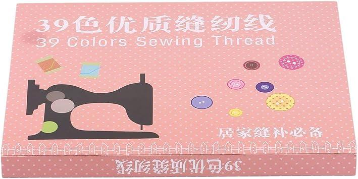 Opinión sobre 1 Juego 39 Piezas 200 Yardas de Colores Mixtos Hilo de Coser de Carrete de poliéster para máquina de Mano Suministros de Costura de Bordado duraderos (39 Colores) -BCVBFGCXVB